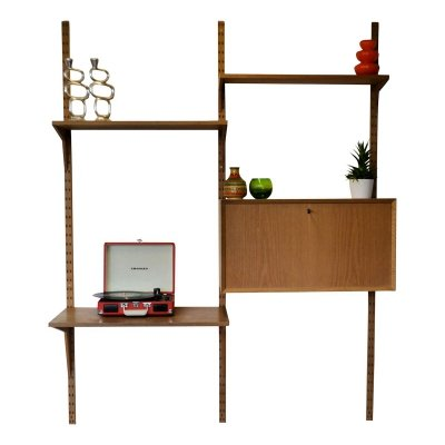 Vintage oak Poul Cadovius wall-unit