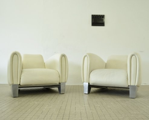 De Sede ds57 'Bugatti' lounge chairs by Franz Romero, 1986
