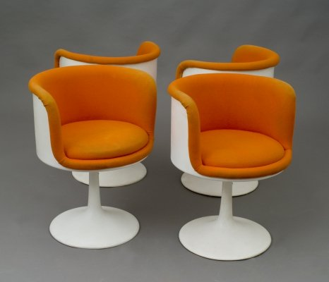Set of 4 vintage arm chairs, 1970s