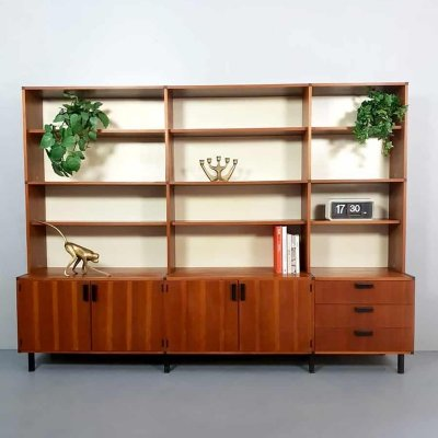 Vintage Dutch design 'made to measure' wall unit by Cees Braakman for Pastoe