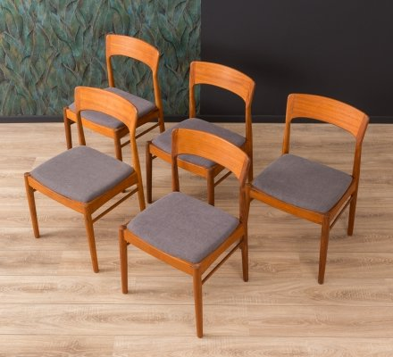 Set of 5 danish teak dining chairs by K.S. Møbler, 1960s