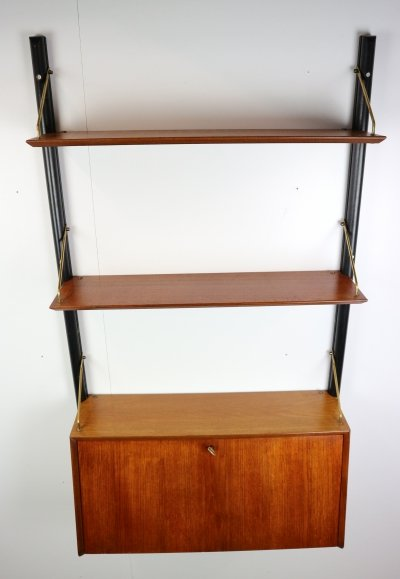 Modular Wall Unit Secretary by Louis Van Teeffelen For Webe, Dutch Design 1950s