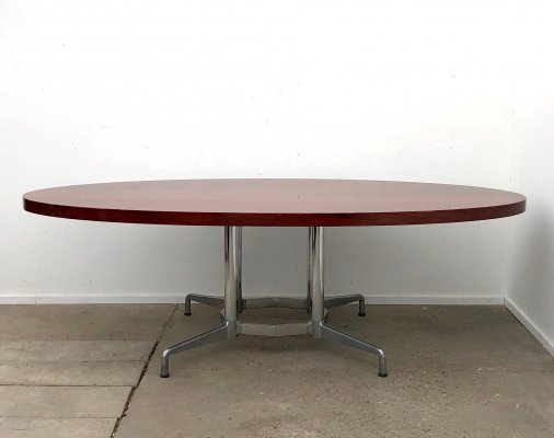 Large oval Castelli conference / dining table, 1970s