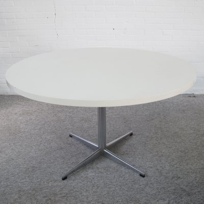 Vintage large white formica dining table, 1960s