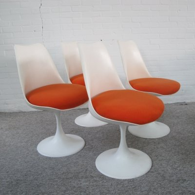 Set of four vintage Pastoe tulip chairs, 1970s