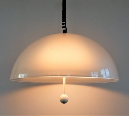 Rare pendant lamp by E. Fagioli for Artimeta, 1970's