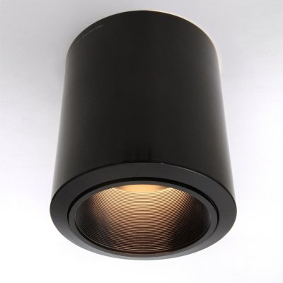 Pair of Black Ceiling lights by Luci Italia, 1980s