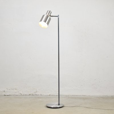 Chrome 'Studio' floor lamp by Jo Hammerborg for Fog & Mørup, Denmark 1960's