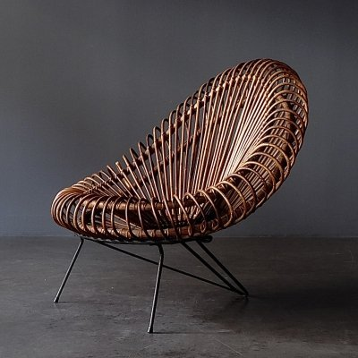 Basketware Lounge Chair by Janine Abraham & Dirk Jan Rol for Rougier, 1950s