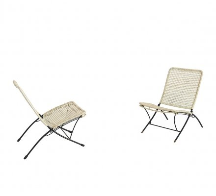 Pair of Italian outdoor chairs, 1950s