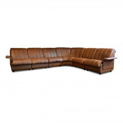 Vintage Danish design leather modular sofa by Skipper