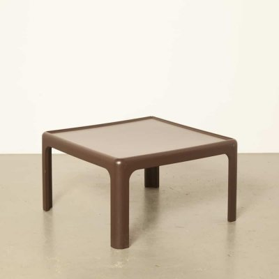 Brown coffee table by Peter Ghyczy, 1970s