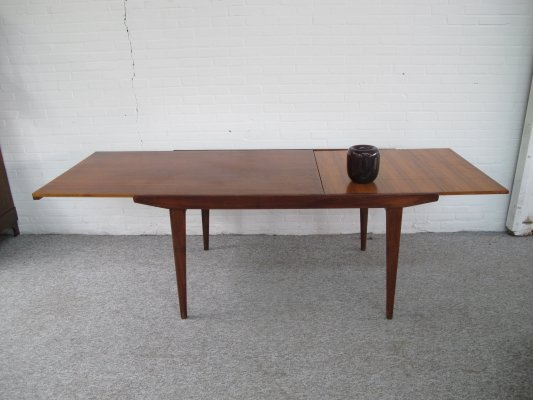 Vintage Danish Extensible teak dining table, 1960s