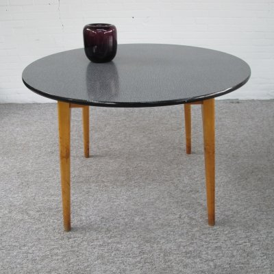 Vintage birch wood & formica dining table, 1960s