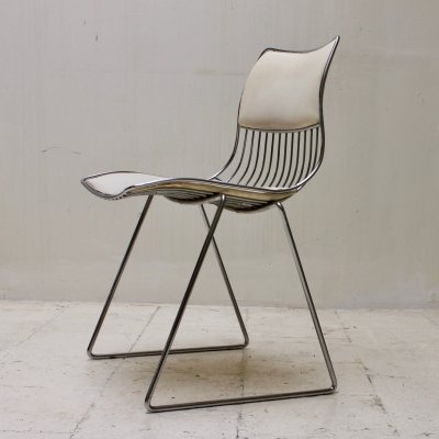 Set of 6 Metal wire dining chairs by Rudi Verelst for Novalux, Belgium 1970's