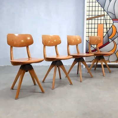 Set of 4 vintage design swivel chairs by Casala