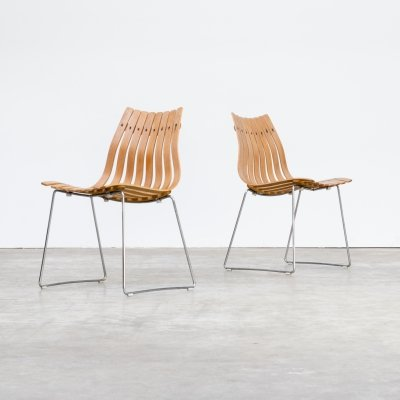 Pair of Hans Brattrud 'Scandia' chairs for Hove Möbler, 1950s
