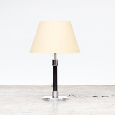 60s Chrome metal double switch table lamp for Swisslamps International
