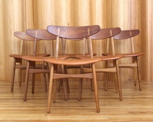 Set of six Hans Wegner model CH30 dining chairs by Carl Hansen & Son Denmark