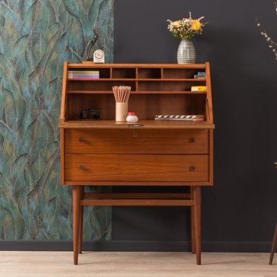 Teak secretary desk, Germany 1950s