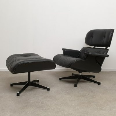 Lounge chair with ottoman by Charles & Ray Eames for Herman Miller, 1996