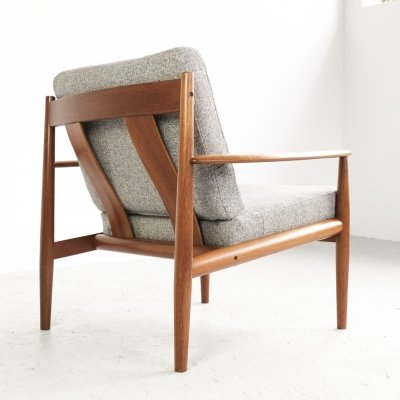 Easy chair in teak & fabric by Grete Jalk for France & Søn, 1960s