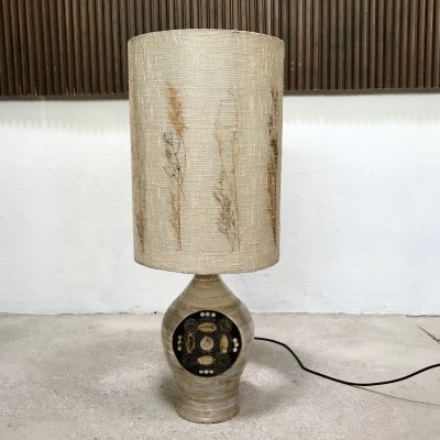 Large Ceramic Table Lamp by Georges Pelletier, France 1960s