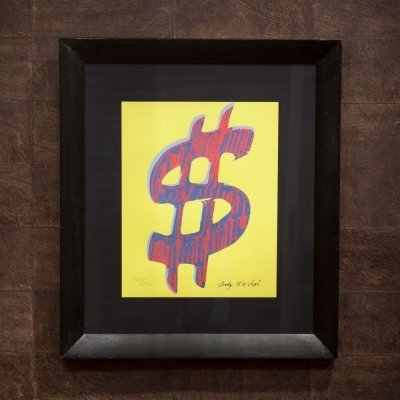 Dollar Sign Lithography by Andy Warhol for CMOA Carnegie Museum of Art, 1980s