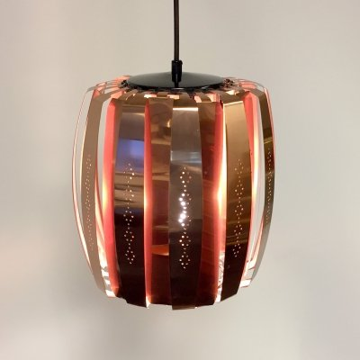 Danish pendant in copper by Werner Schou for Coronell Elektro, 1960s