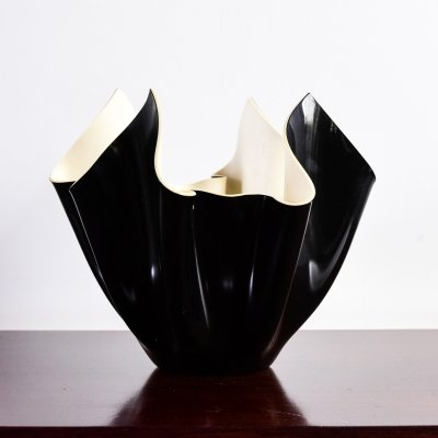 Black bowl by Italplastic, West Germany 1970s