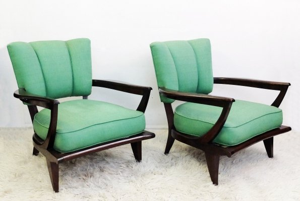 French SK40 Armchairs by Etienne-Henri Martin for Steiner, 1950s