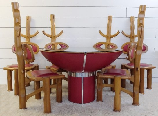 Brasilia Dining Table With 6 Chairs