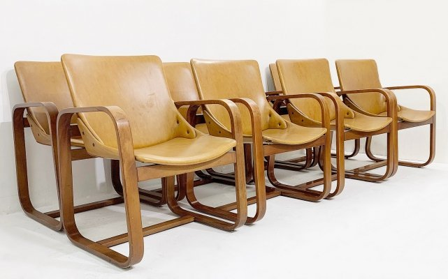 Set of 8 Armchairs by Giuseppe Pagano, Circa 1940