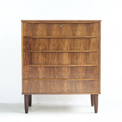 Danish chest of 5 drawers in rosewood, 1960s