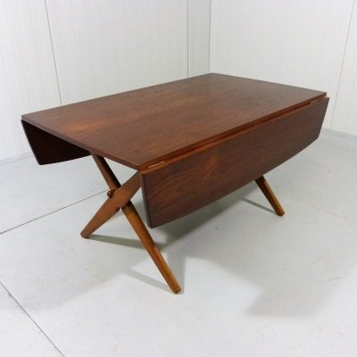 Multifunctional Teak Dining & Coffee Table by Hovmand Olsen, Denmark 1960's