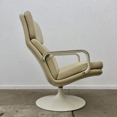 Vintage Artifort model F156 lounge chair by Geoffrey Harcourt, 1980s