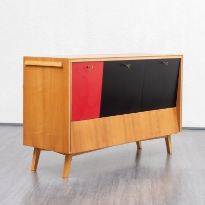 Refined 1950s sideboard with integrated bar cabinet