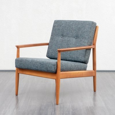 Pair of Classic armchairs in cherrywood, 1960s