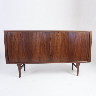 Danish mid-century sideboard by L. Chr. Larsen & Son in rosewood with two tambour doors