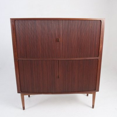 Spacious teak buffet / sideboard with four roll-fronts