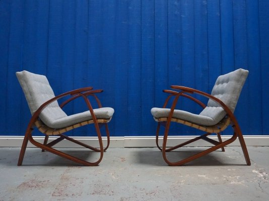 Early 20th Century Czech Armchairs by Jan Vanek, 1930's​