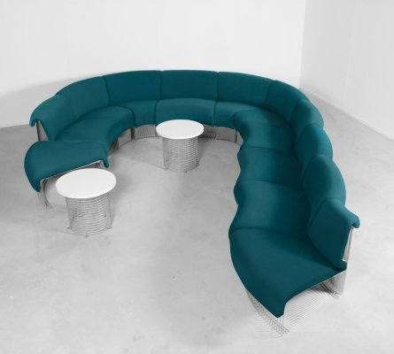 Large Pantonova Sofa by Verner Panton for Fritz Hansen