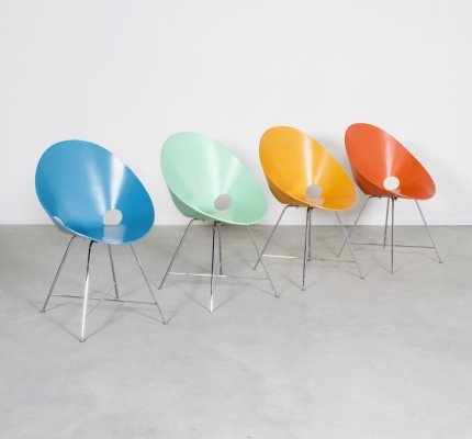Set of 4 Thonet S664 Dining Chairs by Eddie Harlis