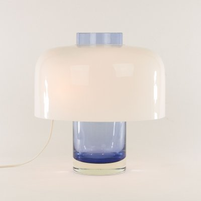 Blue Murano glass table lamp LT 226 by Carlo Nason for A.V. Mazzega, 1960s