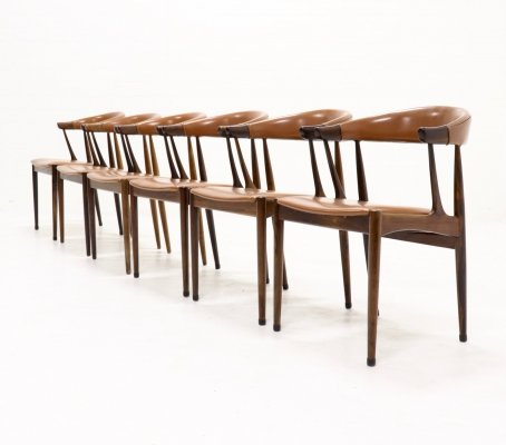 Set of 6 Johannes Andersen BA113 Rosewood dining chairs, Denmark 1969