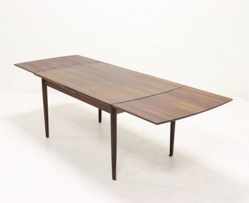 Large Extendable Danish Design Rosewood Dining Table, 1950s