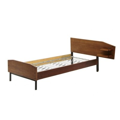 Italian mid-century bed with shelves, 1950s