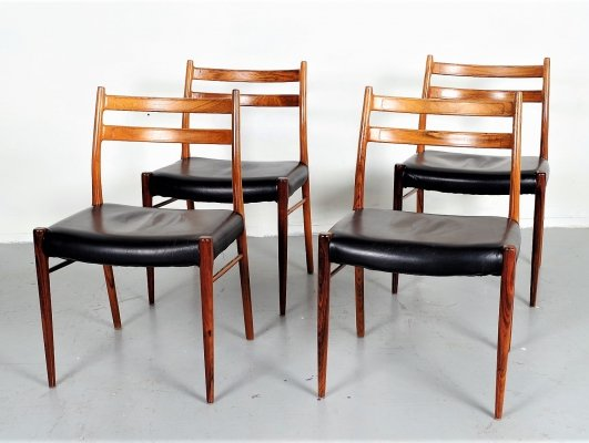 Set of 4 rosewood dining chairs, Denmark 1960s