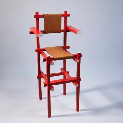 Rare Children's High Chair by Gerrit Rietveld & Gerard van de Groenekan, ca. 1971