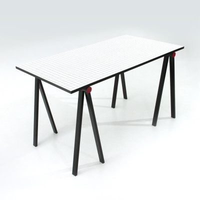 'Trestle' table by Rodney Kinsman for Bieffeplast, 1980s